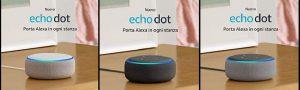 Ecco i modelli Echo Dot
