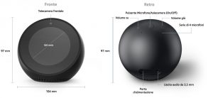 Dimensioni di Amazon Echo Plus