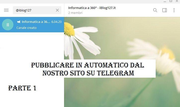 Telegram Pubblicare in automatico